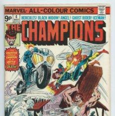 Cómics: THE CHAMPIONS Nº 4 ORIGINAL MARVEL, (1975). CASI NUEVO. Lote 195196060