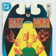 Cómics: BATMAN Nº 354 (1982). ORIGINAL DC. CASI NUEVO. Lote 195196126