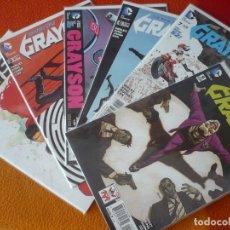 Cómics: GRAYSON NºS 2, 3, 5, 6, 7 Y 9 THE NEW 52 ( SELLEY KING ) ( EN INGLES ) ¡MUY BUEN ESTADO! DC USA 2015. Lote 195701676
