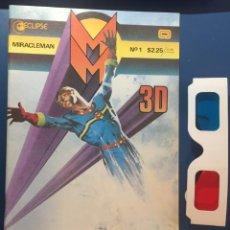 Cómics: MIRACLEMAN 3D #1 - ECLIPSE - ALAN MOORE - VF+ (8.5) + 3D GLASSES. Lote 195742427