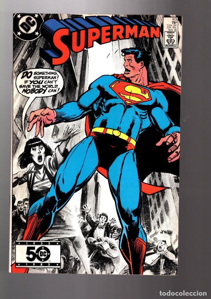 SUPERMAN 413 - DC 1985 VFN (Tebeos y Comics - Comics Lengua Extranjera - Comics USA)