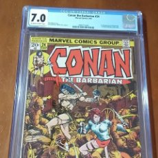 Cómics: CONAN THE BARBARIAN #24 CGC 7.0 (OW-W PAGES) - 1ST FULL APPEARANCE OF RED SONJA. Lote 195596910