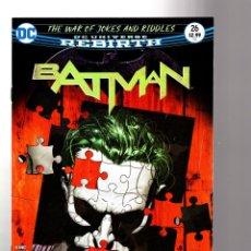 Cómics: BATMAN 26 - DC REBIRTH 2017 VFN/NM / TOM KING / WAR OF JOKES AND RIDDLES. Lote 196264751