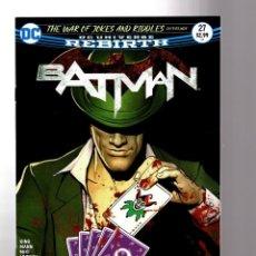 Cómics: BATMAN 27 - DC REBIRTH 2017 VFN/NM / TOM KING / WAR OF JOKES AND RIDDLES. Lote 196265080