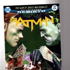 Cómics: BATMAN 28 - DC REBIRTH 2017 VFN/NM / TOM KING / WAR OF JOKES AND RIDDLES. Lote 196265423