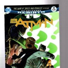 Cómics: BATMAN 30 - DC REBIRTH 2017 VFN/NM / TOM KING / WAR OF JOKES AND RIDDLES. Lote 196266020
