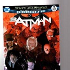 Cómics: BATMAN 31 - DC REBIRTH 2017 VFN/NM / TOM KING / WAR OF JOKES AND RIDDLES. Lote 196266467
