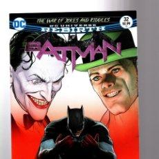 Cómics: BATMAN 32 - DC REBIRTH 2017 VFN/NM / TOM KING / WAR OF JOKES AND RIDDLES. Lote 196266743