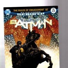 Cómics: BATMAN 33 - DC REBIRTH 2017 VFN+ / TOM KING / RULES OF ENGAGEMENT. Lote 196266920