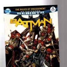 Cómics: BATMAN 34 - DC REBIRTH 2017 VFN/NM / TOM KING / RULES OF ENGAGEMENT. Lote 196267035