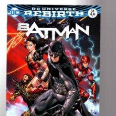 Cómics: BATMAN 34 - DC REBIRTH 2017 VFN/NM VARIANT COVER / TOM KING / RULES OF ENGAGEMENT. Lote 196267136