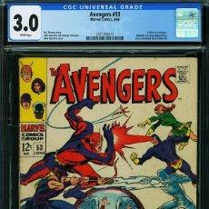 Comics: THE AVENGERS# 53 CGC 3.0 UNIVERSAL. 1968. Lote 201853558