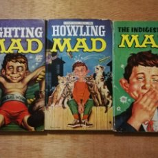 Cómics: TRES TÍTULOS MAD: THE INDIGESTIBLE MAD / FIGHTING MAD / HOWLING MAD. Lote 202815462