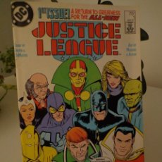 Cómics: JUSTICE LEAGUE #1-1ST LORD MAXWELL-2ND J.L.I-NOT REPRINT EDITIO. Lote 203095552