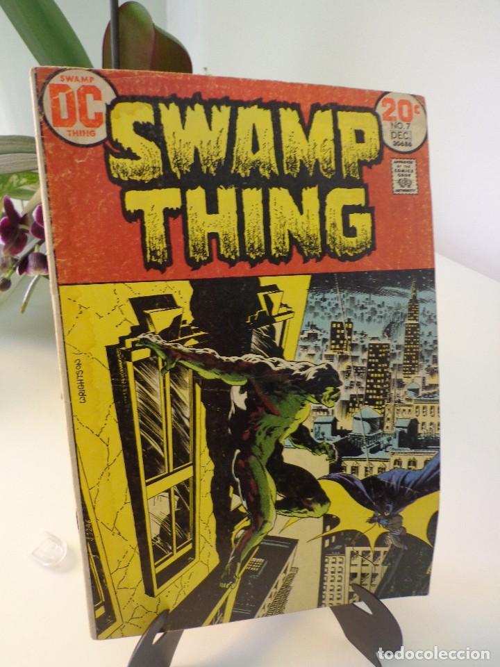 SWAMP THING #7-FIRST CROSSOVER SWAMP THING VS BATMAN (Tebeos y Comics - Comics Lengua Extranjera - Comics USA)