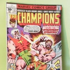 Comics : THE CHAMPIONS 12 MARVEL COMICS USA AÑOS SA 1977. Lote 203808667