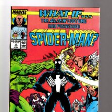 Comics: WHAT IF 4 THE VENOM ALIEN COSTUME HAD POSSESSED SPIDER-MAN - MARVEL 1989 VFN+. Lote 204494342