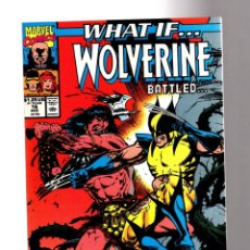 Comics: WHAT IF 16 - MARVEL 1990 VFN+ / WOLVERINE BATTLED CONAN THE BARBARIAN ?. Lote 204495861