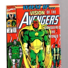 Cómics: WHAT IF 19 THE VISION CONQUERED THE WORLD ? - MARVEL 1990 VFN+. Lote 204496288