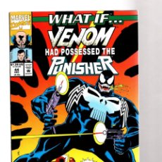 Comics: WHAT IF 44 - MARVEL 1992 VFN/NM / VENOM HAD POSSESSED THE PUNISHER ? DAREDEVIL / SPIDER-MAN. Lote 204499982