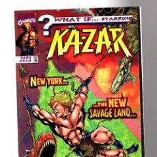 Cómics: WHAT IF 112 KA-ZAR NEW YORK THE NEW SAVAGE LAND - MARVEL 1998 VFN/NM. Lote 204638263