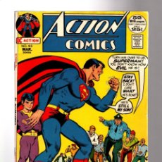 Cómics: ACTION COMICS 410 THE SATANIC SON OF SUPERMAN - DC 1972 FN+ / 52 PAGE GIANT / TEEN TITANS. Lote 205362572