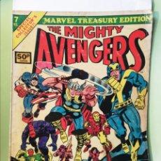 Cómics: THE AVENGERS LOS VENGADORES 7 MARVEL TREASURY EDITION GIANT SIZE JOHN BUSCEMA 1975. Lote 205719201