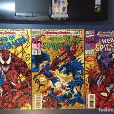 Cómics: WEB OF SPIDER-MAN (1993) - MAXIMUM CARNAGE - #101, 102 & 103 - (NM- 9.2). Lote 206391786