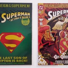 Cómics: 2 EJEMPLARES SUPERMAN REIGN OF THE SUPERMEN - DC 1993 - STERN - EXCELENTE ESTADO - VFN. Lote 206479342