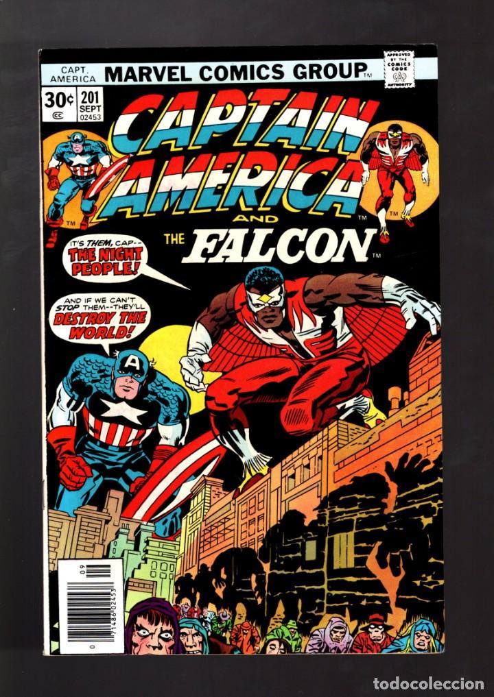 CAPTAIN AMERICA 201 - MARVEL 1976 VFN / JACK KIRBY (Tebeos y Comics - Comics Lengua Extranjera - Comics USA)