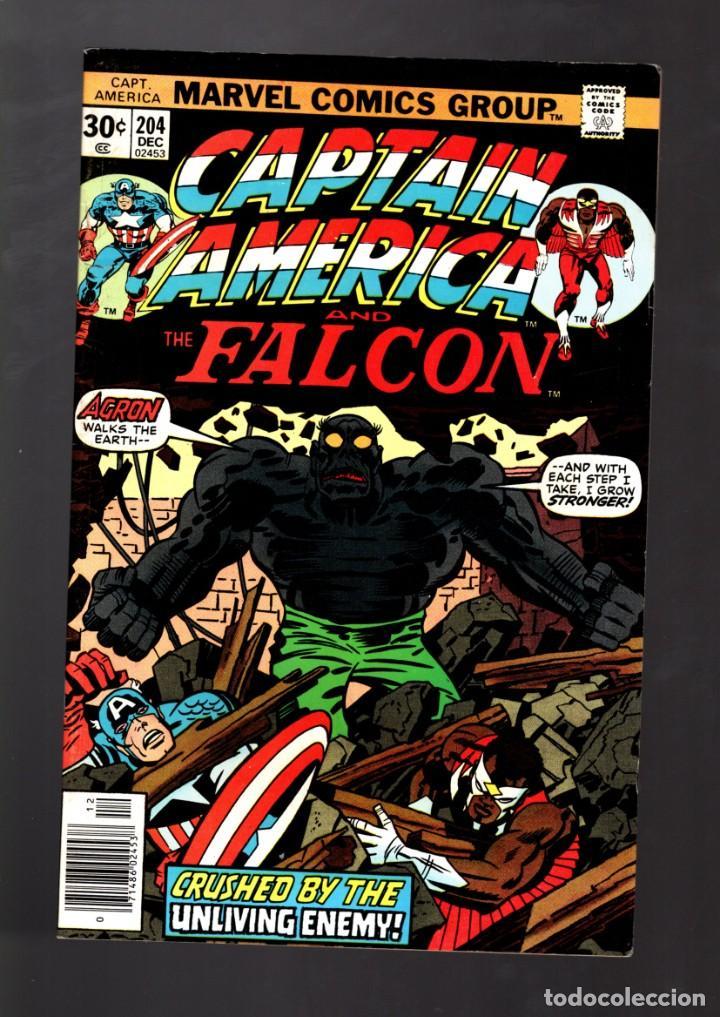CAPTAIN AMERICA 204 - MARVEL 1976 VFN / JACK KIRBY (Tebeos y Comics - Comics Lengua Extranjera - Comics USA)