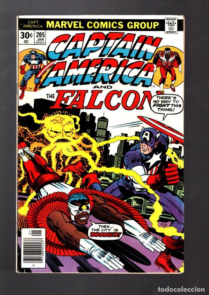 CAPTAIN AMERICA 205 - MARVEL 1977 FN / JACK KIRBY (Tebeos y Comics - Comics Lengua Extranjera - Comics USA)
