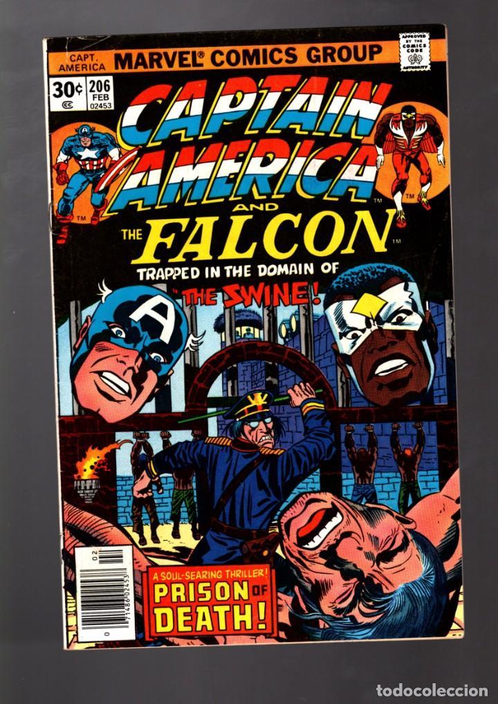 CAPTAIN AMERICA 206 - MARVEL 1977 FN+ / JACK KIRBY (Tebeos y Comics - Comics Lengua Extranjera - Comics USA)