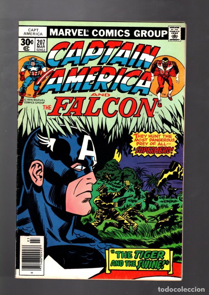 CAPTAIN AMERICA 207 - MARVEL 1977 FN/VFN / JACK KIRBY (Tebeos y Comics - Comics Lengua Extranjera - Comics USA)