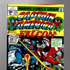 Cómics: CAPTAIN AMERICA 213 AND THE FALCON - MARVEL 1977 VFN/NM / JACK KIRBY. Lote 207361316