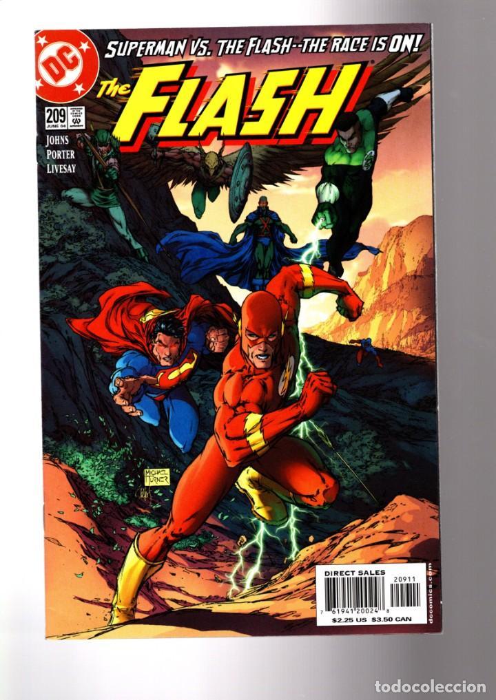FLASH 209 - DC 2004 VFN/NM / GEOFF JOHNS & HOWARD PORTER / MICHAEL TURNER COVER / SUPERMAN RACE ! (Tebeos y Comics - Comics Lengua Extranjera - Comics USA)