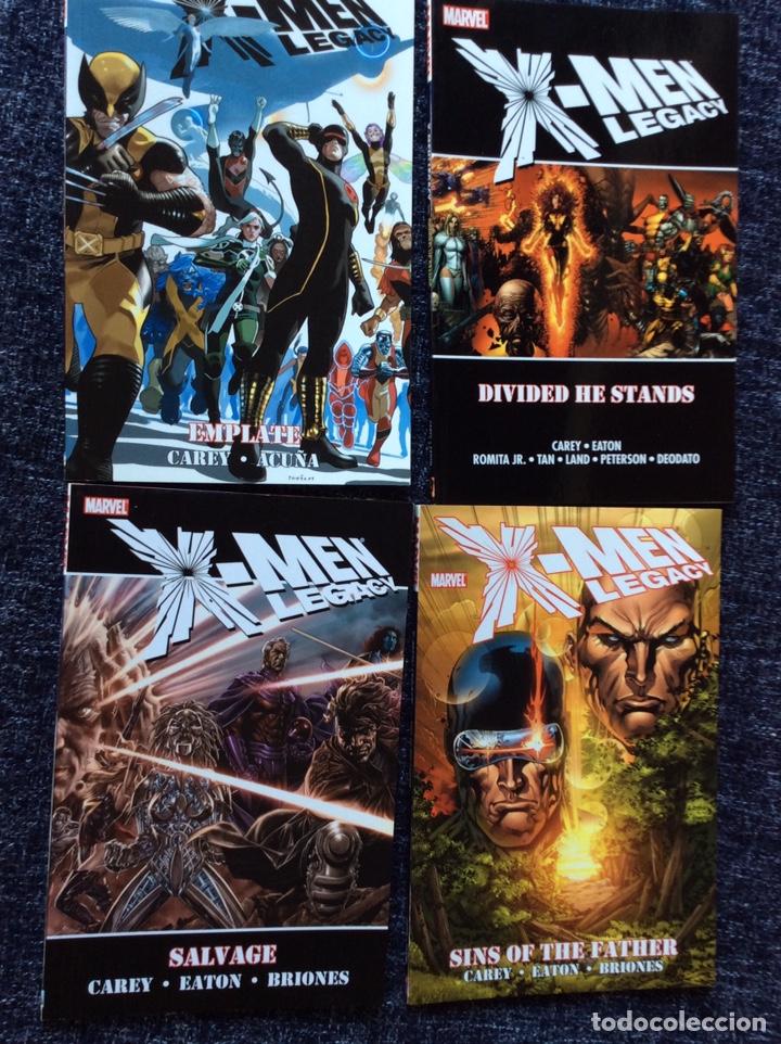 X MEN LEGACY , LOTE 4 TOMOS ( EDICION EN INGLES ) (Tebeos y Comics - Comics Lengua Extranjera - Comics USA)
