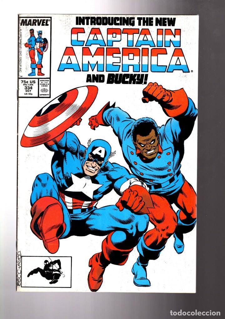 CAPTAIN AMERICA 334 - MARVEL 1987 FN/VFN / THE NEW CAPTAIN AMERICA AND BUCKY (Tebeos y Comics - Comics Lengua Extranjera - Comics USA)