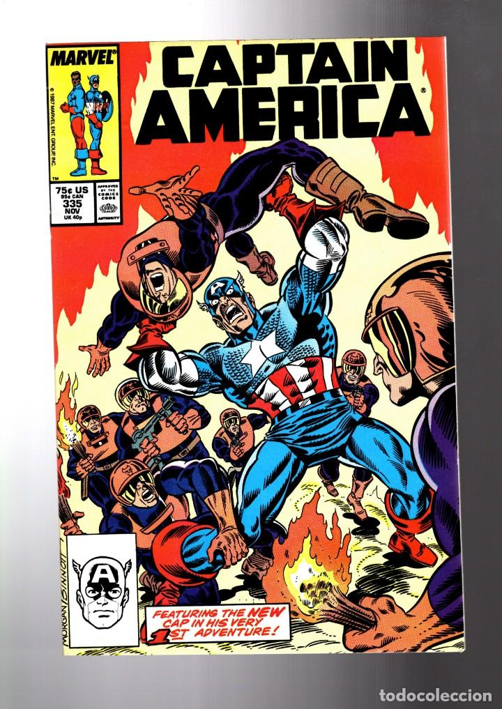CAPTAIN AMERICA 335 - MARVEL 1987 VFN+ / NEW CAPTAIN AMERICA AND BUCKY 1ST ADVENTURE (Tebeos y Comics - Comics Lengua Extranjera - Comics USA)