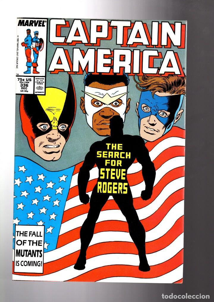 CAPTAIN AMERICA 336 - MARVEL 1987 VFN/NM / 1ST STEVE ROGERS AS THE CAPTAIN (Tebeos y Comics - Comics Lengua Extranjera - Comics USA)
