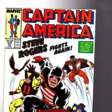 Cómics: CAPTAIN AMERICA 337 - MARVEL 1988 VFN/NM / STEVE ROGERS FIGHTS AGAIN / AVENGERS 4 COVER HOMMAGE. Lote 209898120