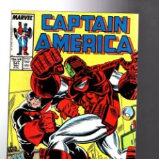 Cómics: CAPTAIN AMERICA 341 - MARVEL 1988 VFN / CAPTAIN VS IRON MAN / 1ST BATTLESTAR. Lote 209898385