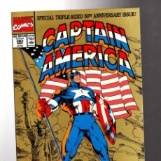 Cómics: CAPTAIN AMERICA 383 - MARVEL 1991 VFN/NM / TRIPLE SIZED 50TH ANNIVERSARY. Lote 209900410
