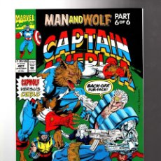 Cómics: CAPTAIN AMERICA 407 - MARVEL 1992 VFN+ / MAN AND WOLF / CAPWOLF VS CABLE / WOLFPACK / WOLVERINE. Lote 209900738