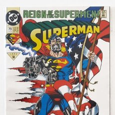 Cómics: SUPERMAN Nº 79 - DC 1993 VFN+ - JURGENS & BREEDING - REIGN OF THE SUPERMEN - CYBORG SUPERMAN. Lote 210337467