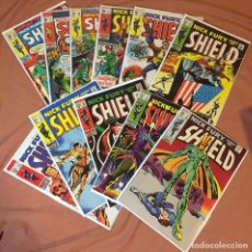 Cómics: LOT OF 11: NICK FURY, AGENT OF S.H.I.E.L.D. #8-18 (#15 1ST BULLSEYE) (VOL 1. 168-1971) - MID GRADE. Lote 210344485