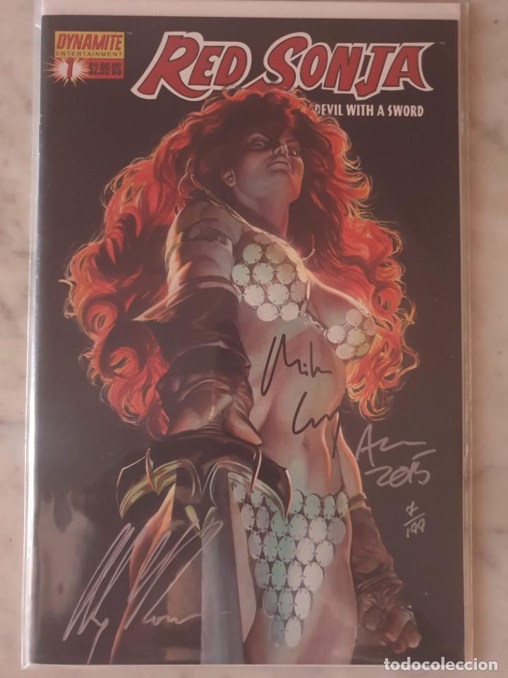 RED SONJA 1. TRIPLE FIRMA CON CERTIFICADO DE AUTENTICIDAD. ESTADO MUY BUENO (Tebeos y Comics - Comics Lengua Extranjera - Comics USA)