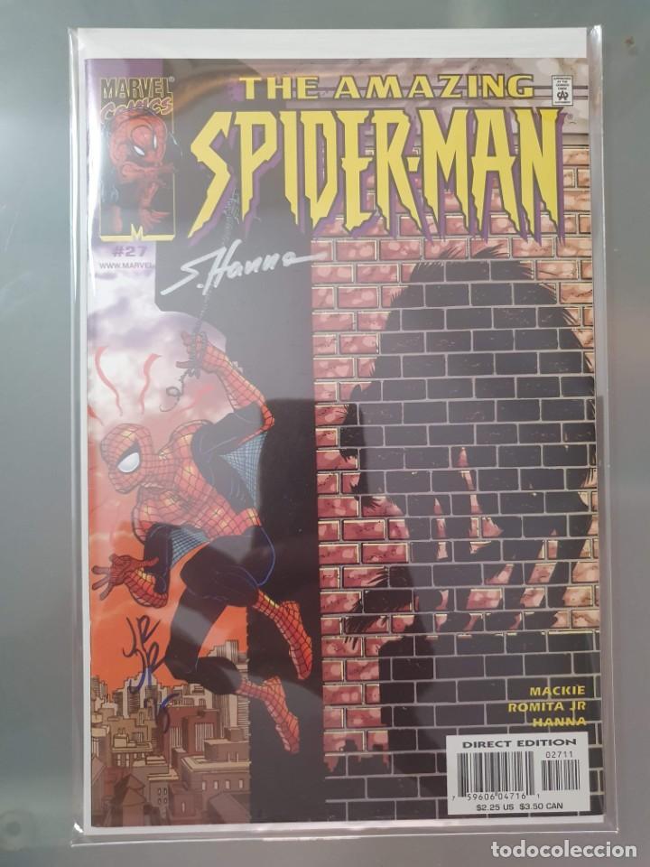 AMAZING SPIDERMAN 27 DOBLE FIRMA JOHN ROMITA Y S. HANNA CON CERTIFICADO DE AUTENTICIDAD (Tebeos y Comics - Comics Lengua Extranjera - Comics USA)