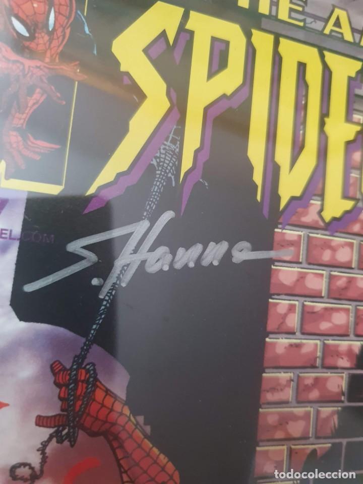Cómics: AMAZING SPIDERMAN 27 DOBLE FIRMA JOHN ROMITA Y S. HANNA CON CERTIFICADO DE AUTENTICIDAD - Foto 4 - 210652955