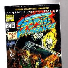 Cómics: GHOST RIDER & BLAZE SPIRITS OF VENGEANCE 1 - MARVEL 1992 NM / SIN ABRIR CON POSTER. Lote 210731680